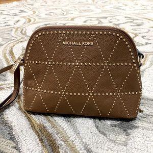 💕 Michael kors brown gold leather shoulder bag 💕